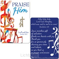 Lapel pin praise Him
