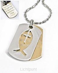 Ketting hanger vis kruis staal ps 27:1