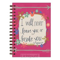 Wirebound journal i will never leave