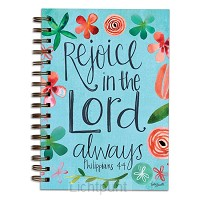 Wirebound journal rejoice in the Lord