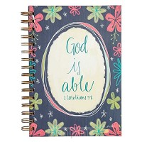 Wirebound journal God is able