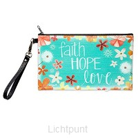 Zippered Bag Faith Hope Love