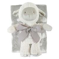 Lamb Blanket Toy Set Grey