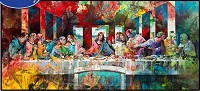 Last Supper abstract 30x60cm Square dril