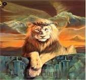 Lion Crown of Thorns 40x50cm-Square