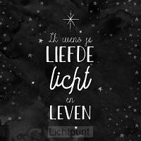 Kerstkaart zwart Psalm 36:10-11
