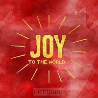 Kerstkaart Joy to the world rood