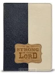 Zippered Journal Be Strong