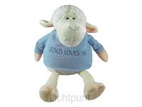 Lamb - 23 cm - Jesus loves me Blue