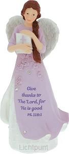 Angel figurine give thanks