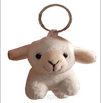 Keyring white small lamb