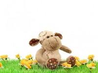 Lamb curly keyring 12cm
