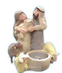 Kerstgroep waxinelicht klein