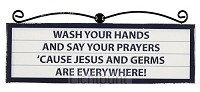 Signs plaque wash your hands