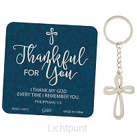 Keychain thankful for you
