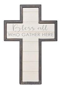 Wall cross bless all 30,5cm