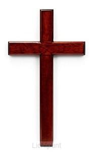 Kruis hang 15cm mahoniehout