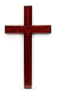 Kruis hang 40cm mahoniehout
