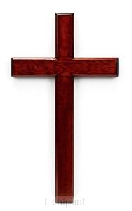 Kruis hout 60cm mahoniehout