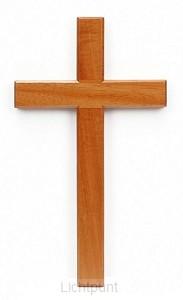 Kruis hang 10cm blank hout