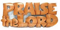 Wandbord 305x135 praise the Lord