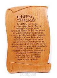 Wandbord 20x13cm psalm 23 sv