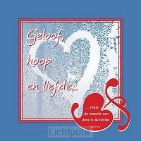 Wandbord 22x22cm geloof hoop en liefde