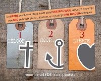 Wandbord geloof hoop en liefde 24x30cm
