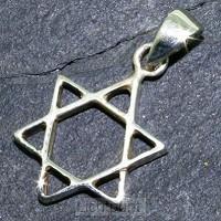 Silver pendant star of David 19mm