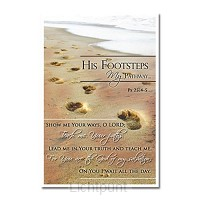 Laminated card his footprints set5
