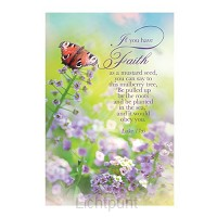 Laminated card faith set5