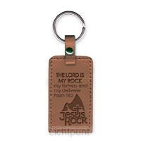 Leather keyring Jesus