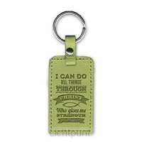 Leather keyring I can do all