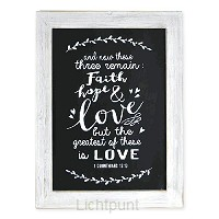 Wooden frame faith hope love