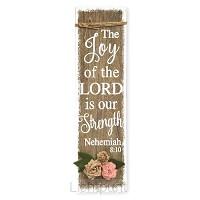 Wooden plaque the joy