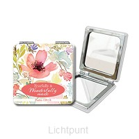 Mini compact mirror fearfully and