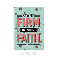 Softcover journal stand firm