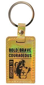 Keyring iridescent bold brave courageous