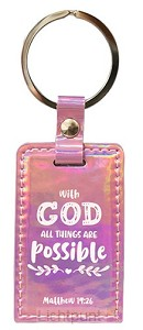Keyring iridescent with God all things