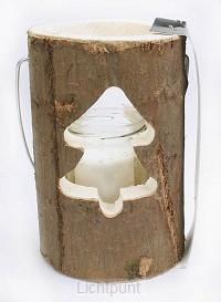 Sfeerlicht hout kerstboom 18cm