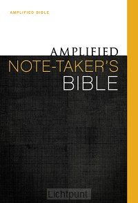 Amplified Note-takers Bible Colour HC