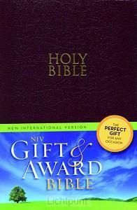 Gift & award bible NIV burgundy leather