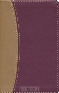 Amplified bible tan/burgundy leathersoft