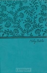 KJV - Deluxe Gift Bible, Blue Imit. Leat