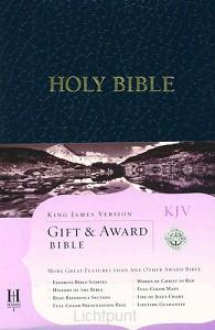 KJV gift & award blue lmit. leath