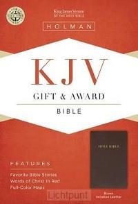KJV gift & award bible dark brown imitat