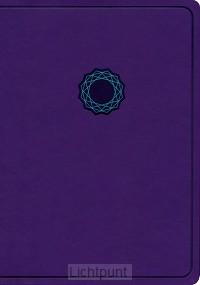KJV deluxe gift bible purple/teal leathe