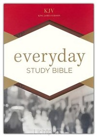 KJV everyday study bible brown leathert