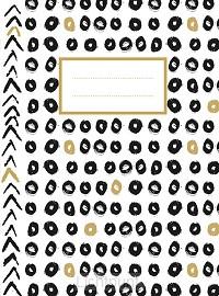 Zwart wit goud schrift (lijnen)