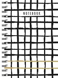 Zwart wit goud spiraalboek klein (lijnen